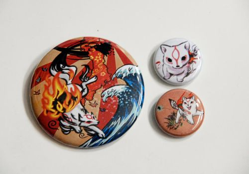 2nd Prize and 3rd prizes - Okami badge set + by scarykurt