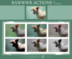 RAWWWR actions! by 7asan93