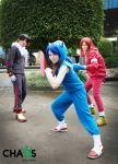Sonic, Knuckles and Shadow Cosplay by Opposites