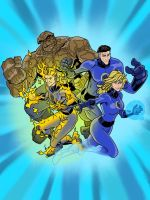 FANTASTIC FOUR colors by CThompsonArt
