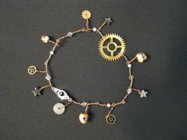 Steampunk Charm Bracelet 4 by KatarinaNavane