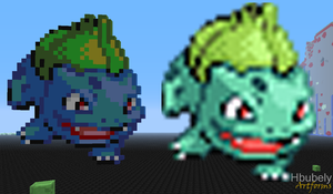 Bulbasaur - Minecraft Art by HbubelyArtForms