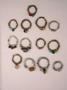 Beaded Ring Group Shot by hillarybewilson