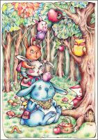 family of rabbits ^_^ by Annika-Z