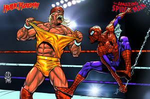 Hulk Hogan Vs Spiderman by DanielDahl