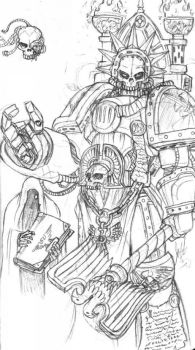 Space Marines Chaplain by ironflea