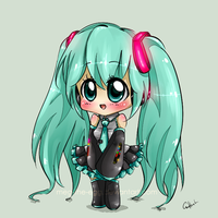 Miku Hatsune Chibi by Meg-the-egg