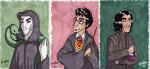 Harry Potter Sketch Cards by cardinalbiggles