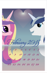 Illustrator Practice: February 2015 Pony Calendar by Great-5
