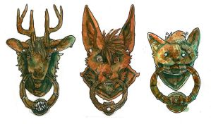 Door Knocker Badges! ($25) by CannedTalent
