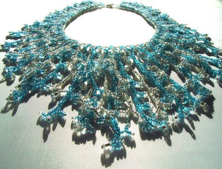 Icicle Cascade Necklace by Emarah