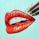 Lips ( Realistic With Prisma ) by MichelleCArt