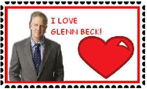 I love Glenn Beck Stamp by Identical