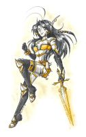 Xeva with her armor by Nadou