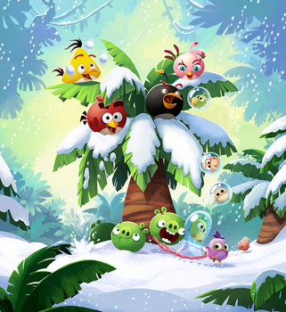 Angry Birds Pop! game art by jjnaas
