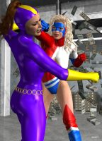 Purple Vixen vs Ms. Victory by hotrod5