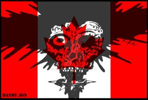 Splattered Canadian Zombie Punk by Dandy-Jon