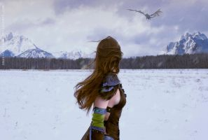 Skyrim, Aela the Huntress by AmazingRogue