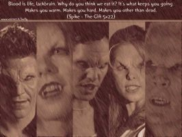 Vamp Buffy verse Wallpaper by Doomwing