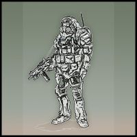 Speedpainting: Scifi Army Dude by rickystinger88
