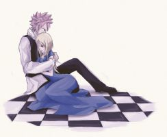Natsu and Lucy (mousy) by InsanitylittleRed
