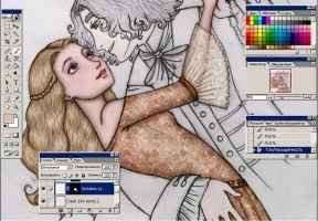 WIP_Alice and Hatter_dancing by ArinaFoxy