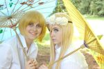 Blondes in summer: Armin and Krista hanging out by bluerosefantasy