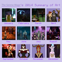 The-Serene-Mage's 2014 Summary of Art by The-Serene-Mage