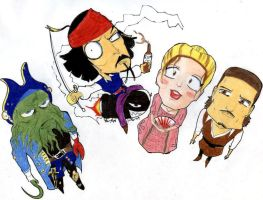 POTC Caricatures by TeeVeeBoi