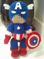 Captain America in crochet by jelc85