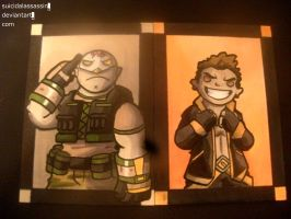 Rival Heroes Sketch Cards: set fourteen by suicidalassassin