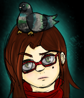 Pigeon head by AkariMMS