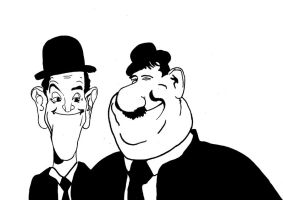 Laurel and hardy by Bartok88