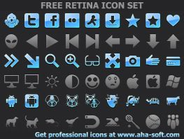 Free Retina Icon Set by Ikonod