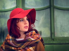 red hat and a green house by nex