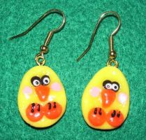 Duck earrings by ladytech