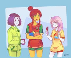 Girl's slumberparty by Nerah-chan