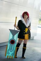 Red Transistor Cosplay by LumpySnorlax