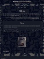 Dark Lace Journal Skin by Ninelyn