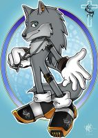 Fangson the wolf sonic style by wsache007
