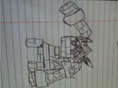 Hand Drawn Castle Golem OOOOOH by Kalukishiku