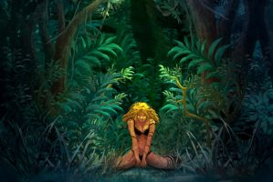 Jungle woman by kowan