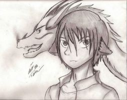 Bryan Sama and loyal Dragon by iiluvSHADOW