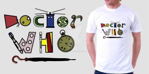 Doctor who typography tshirt by CreativeCamArt