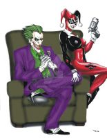 Joker and Harley Quinn Chair by ESO2001