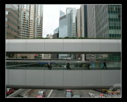 Photo: Hong Kong Walkway by Insidious-Ink
