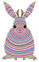 Colourful Jackalope by weirdklown