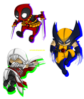Bladed Chibi's by Kittyotic