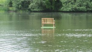 Bench Above the Water. by FenrisTheWolfBoy