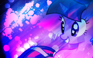Crystal Twilight Sparkle Vibrant Breeze Wallpaper by EnemyD